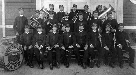 historic picture of denver municipal band