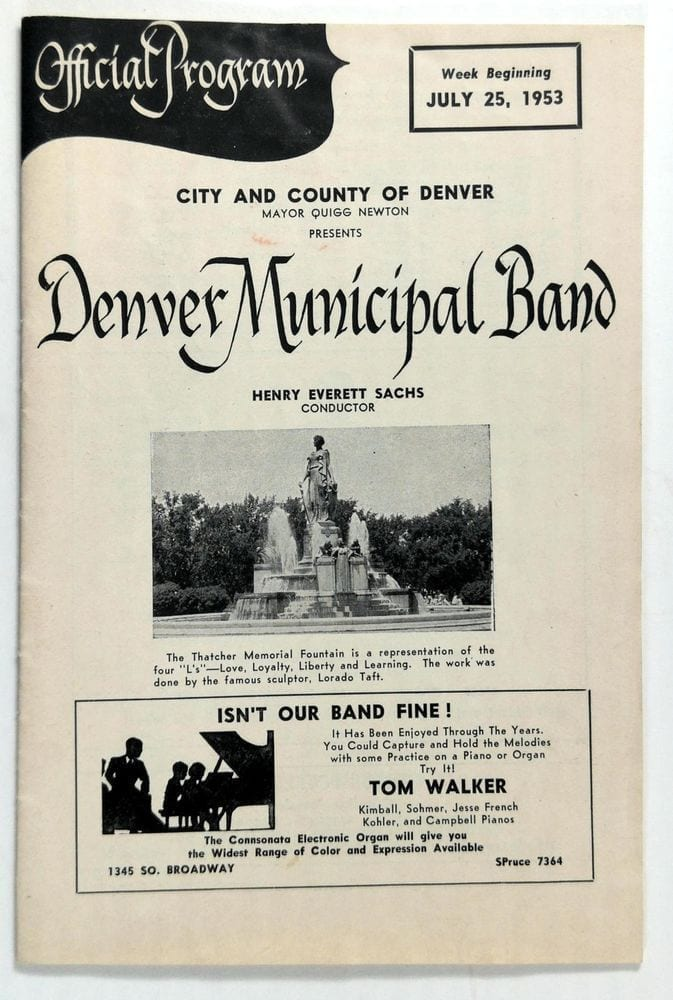 denver municipal band program